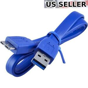 (5-Pack) 2FT Micro USB 3.0 Flat Cable for WD My Passport External Hard Drive 5X