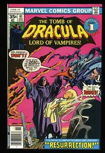 Tomb Of Dracula #61 NM 9.4 Off White to White Marvel Comics