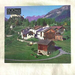 "Golden 500 Piece Jigsaw Puzzle Mountainside Village 15 1/2 x 18"" 4646-44 Sealed"