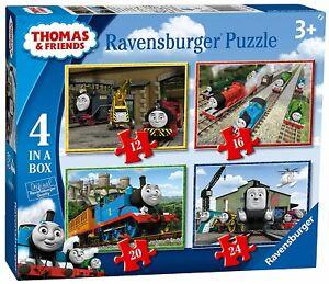 Ravensburger Thomas & Friends 4 in a Box (12, 16, 20, 24) Jigsaw