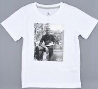 NIKE AIR JORDAN Boys' Kids' Jordan Graphic T-shirt, White, size 6-7 years