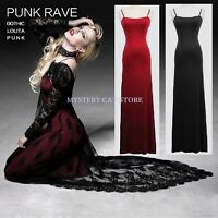 NEW Punk Rave Rock Gothic Black Lace Dress+ Inner Dress ALL STOCK IN AUSTRALIA!
