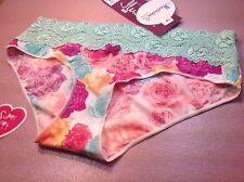 """Women Panties,Bikinis""""Ilusion"""" Size M. Multicolor Floral Soft,Silky,Made Mexico"""