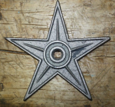 """5 Lg Cast Iron Stars Architectural Stress Washer Texas Lone Star Rustic Ranch 9"""""""