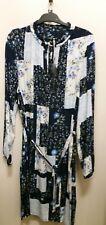 NEW Regatta Floral Block ruffle neck dress, size 12P