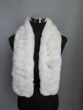 Handmade 100% real rex rabbit fur scarf /cape/ wrap/shawl /collar white scarf 1
