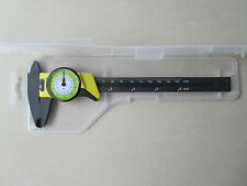 "DIAL CALIPER  CARBON FIBER CONSTRUCTION 6"" INCH 150mmVERNIER MICROMETER 0.01res"