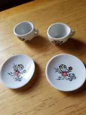 2 Vintage Miniature Child's Doll's Cups and Saucers Made in Japan