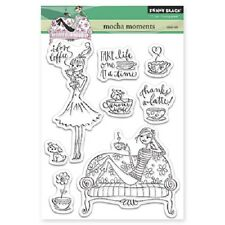 PENNY BLACK RUBBER STAMPS CLEAR MOCHA MOMENTS STAMP SET 2015