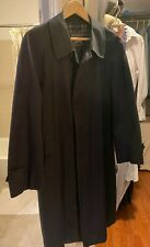 Vintage men's Burberry raincoat - navy