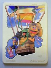 Vintage Fisher Price Muppets Plastic & Wood Tray Frame Puzzle BALLOON RIDE