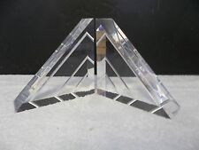 Vintage Thick Chunky Modern MCM Lucite Acrylic Sculptures Bookends Eames 2476