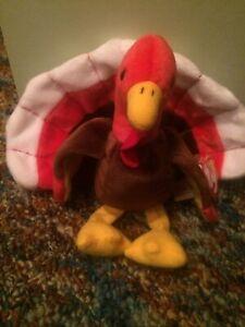 Gobbles the Turkey Ty Beanie Baby DOB November 27, 1996 Retired