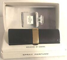 "CHANEL NO. 5 MINI PERFUME BLACK LIPSTICK CASE VIAL SPRAY BOTTLE 2 5/8"" ORIG BOX"
