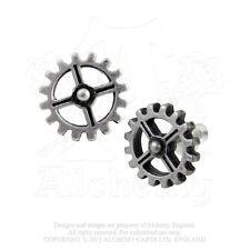 AE E353 - Industrilobe Steampunk Earrings - Gears/Cogs - Fine English Pewter