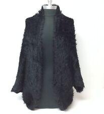 Women Black Faux Fur Outerwear Cape Shawl Stole Wrap Shrug Scarf Wedding/Party