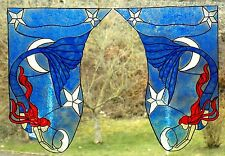 WICOART WINDOW COLOR STICKER CLING FAUX STAINED GLASS 2 ANGLES SIRENE LUNE