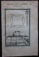 1684 DEN BRIEL view etching Mallet fortification Brielle Brill Zuid-Holland