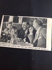 S3 Ephemera 1944 Picture Stork Club Ann Sheridan Steve Hannegan Cliff Edwards
