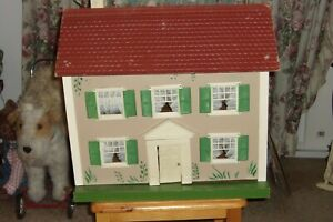 antique 1930's Schoenhut knockdown Doll House w/ original box