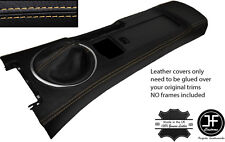 TAN STITCH CONSOLE & GAITER LEATHER COVERS FITS MAZDA MX5 MK3 05-14 STYLE 2