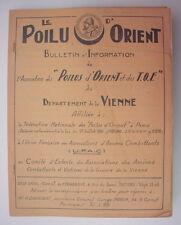 LE POILU D ORIENT BULLETIN D INFORMATION DEPARTEMENT DE LA VIENNE VERS 1950