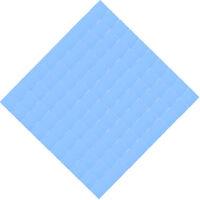 Blue 100x100mm x 0.5mm GPU CPU Heatsink Cooling Thermal Conductive Silicone Pad