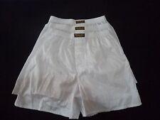 3 Pairs Quality White Thai Silk Boxer Shorts Sleepwear XL 30'' - 34'' Waist