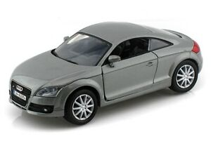 1:18 Scale  Audi TT Coupe Silver 8+ Diecast Collection Motor Max