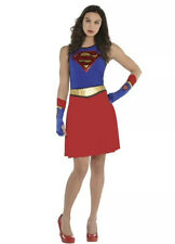 Womens Supergirl Fit & Flare Dress - Superman Standard Size NWT