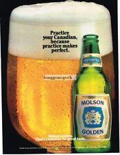 1983 Molson Golden Beer Canadian VINTAGE Print Ad