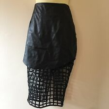 Premonition faux leather skirt