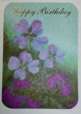 1 Birthday Greeting Card/Envelope Happy Care Love Flowers Family Friend Anyone