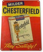 Chesterfield Cigarettes Tobacco Smoking Retro Wall Decor Man Cave Metal Tin Sign
