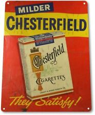 Chesterfield Cigarettes Tobacco Smoking Retro Wall Decor Man Cave Metal Tin Sign