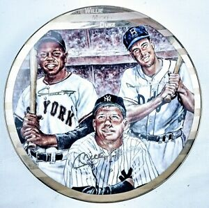 SPORTS IMPRESSIONS PRESENTS  MICKEY MANTLE, WILLIE MAYS & DUKE SNIDER PLATE #175