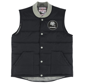 Oakland Raiders NFL Men's Play Clock Throwback Vest by Mitchell & Ness - NFL Lic