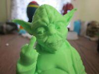 3D printed Star Wars rude Yoda Disney plus