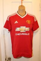 ADIDAS Manchester United MUFC Soccer Football Home Jersey Youth XL 2015/16