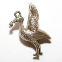 Liverbird Stork Liverpool Sterling Silver Vintage Bracelet Charm With Gift Box
