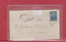 Placentia Bay TPO 1907 nice 5 cent  Registered NFLD Newfoundland cover