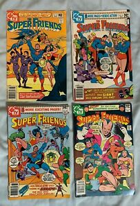 The Super Friends  DC Comics Lot of 4. -  # 35, 37, 38, 39