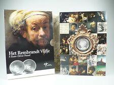 *** NIEDERLANDE 5 Euro Gedenkmünze 2006 PP Proof Rembrandt Silber Coin Münze ***