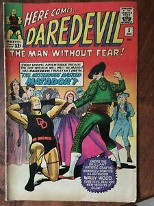 Marvel Comics - Daredevil  #5  Dec 1964   Original!  Authentic!!