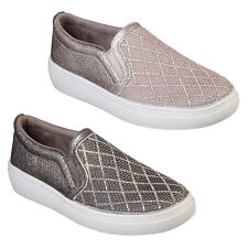 Skechers Diamante Womens Shoes Goldie Diamond Darling Slip On Glitter Trainers