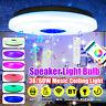 36/60W Plafonnier intelligent haut-parleur LED bluetooth lampe musique Dimmable