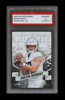 JUSTIN HERBERT 2020 LEAF PRIZED 1ST GRADED 10 ROOKIE CARD OREGON DUCKS/CHARGERS