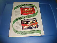 """1946 Chicken of the Sea Tuna Magazine Ad """"The Brands that made tuna famous!"""""""