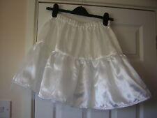 Mini Falda Tutú de satén blanco neto personalizado hecho a pedido Fiesta Vestido de fantasía de cualquier tamaño