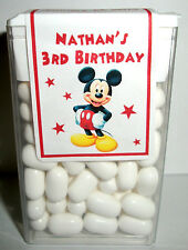 28 MICKEY MOUSE CLUBHOUSE BIRTHDAY PARTY FAVORS TIC TAC LABELS ~ PERSONALIZED